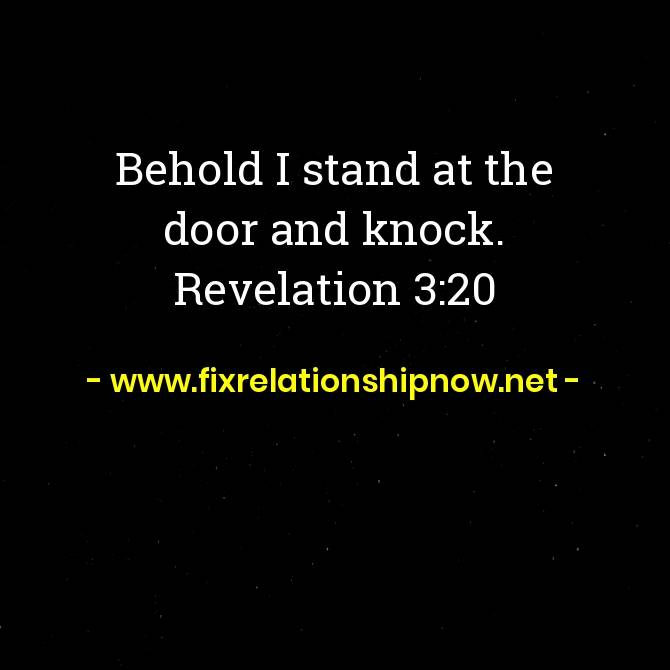 Behold I stand at the door and knock