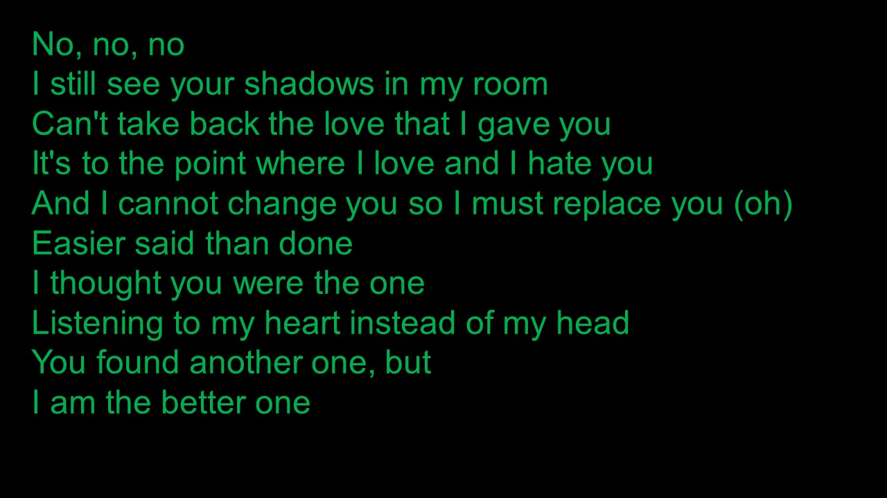 I Still See Your Shadows In My Room