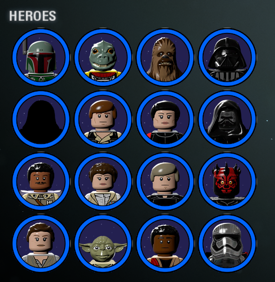 Lego star wars character icons