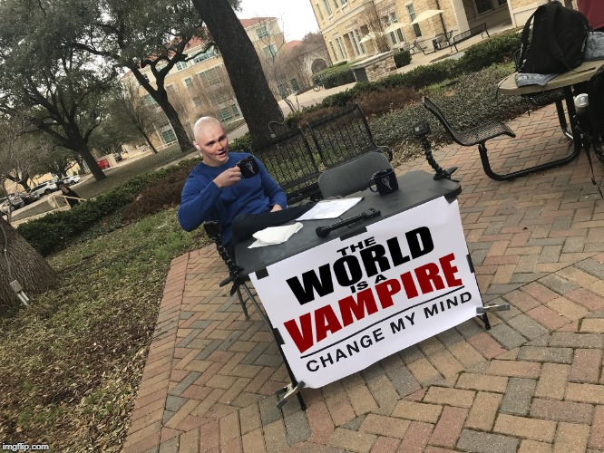 The World Is A Vampire meaning